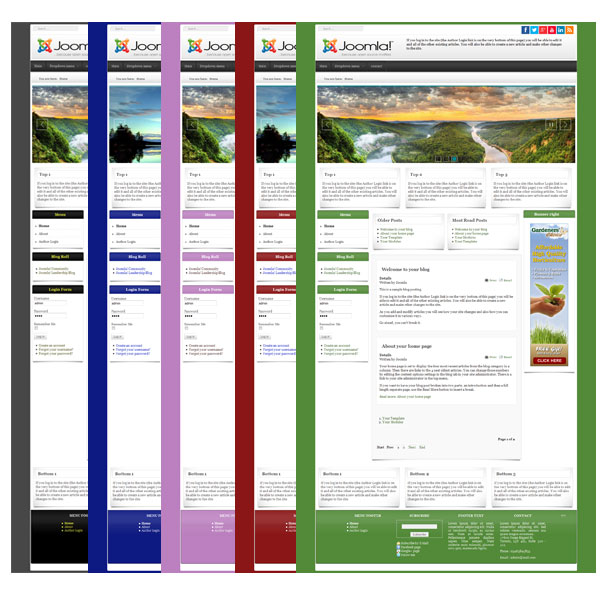 Jamba3 multipurpose multicolor template joomla 3 x for Joomla backend templates